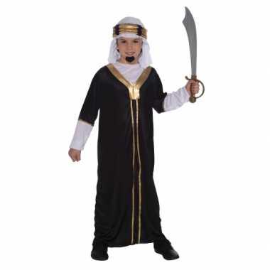 Arabieren sultan verkleedkleding voor kinderen zwart