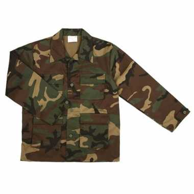 Army jas voor kinderen woodland camouflage