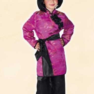 Aziatisch meisjes verkleedkleding roze