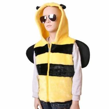 Bijen bodywarmer voor kinderen