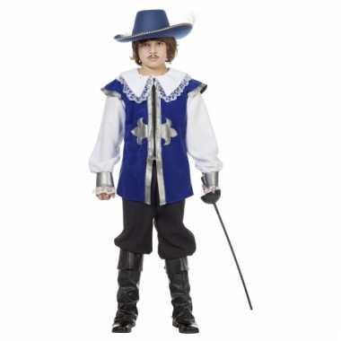 Blauw musketiers verkleedkleding voor kinderen
