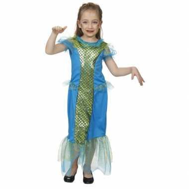 Blauw zeemeermin pak kind