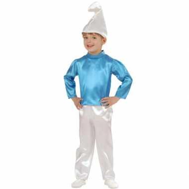 Blauwe dwerg verkleedkleding kinderen