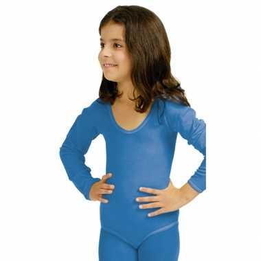 Blauwe kinderbody