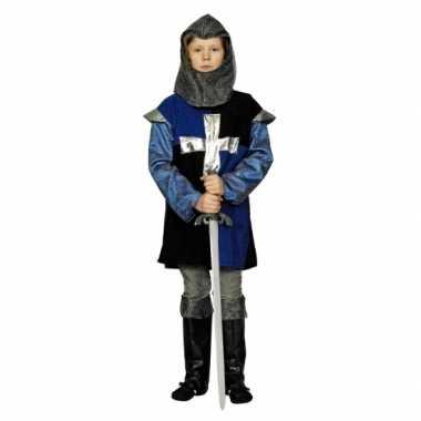 Blauwe ridder verkleed verkleedkleding voor kinderen.