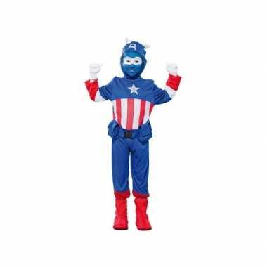 Blauwe superheld carnavals verkleedkleding voor jongens