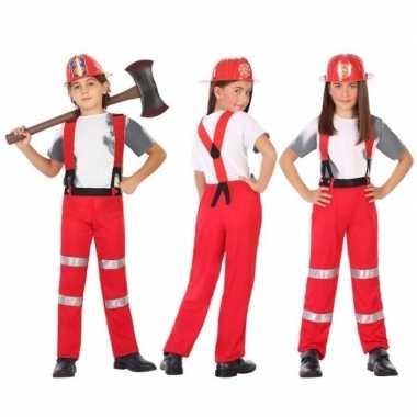 Brandweer uniform verkleedkleding voor jongens en meisjes