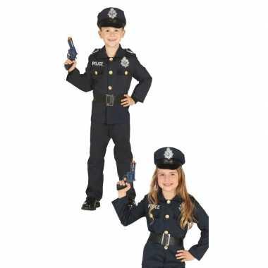 Carnavalskleding politie agent uniform jongens meisjes