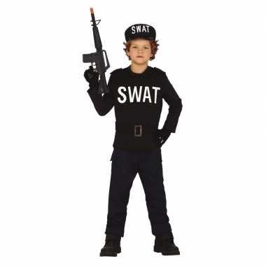 Carnavalskleding swat politie uniform voor jongens/meisjes