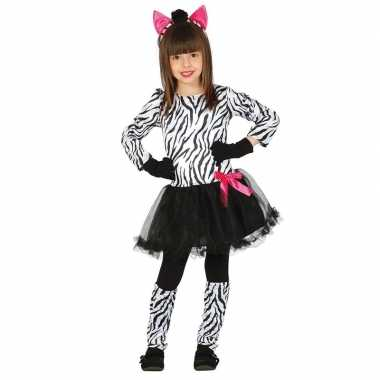 Carnavalskleding zebra verkleedkleding voor meisjes