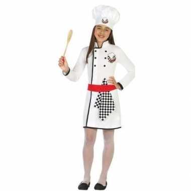 Chef kok uniform verkleedkleding voor meisjes