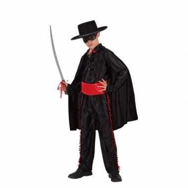 Compleet zwarte held verkleedkleding voor jongens