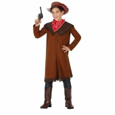Cowboy john verkleedkleding bruin voor jongens