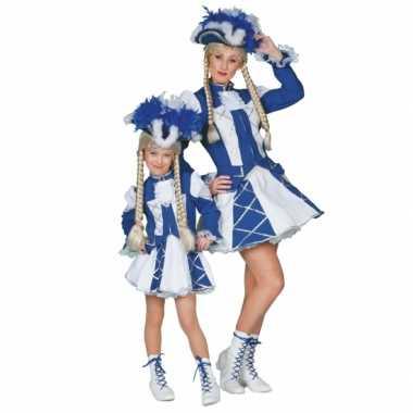 Dansmarieke verkleedkleding blauw voor meisjes