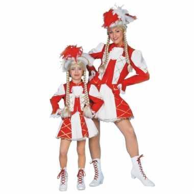 Dansmarieke verkleedkleding rood voor meisjes