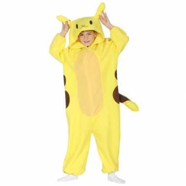 Geel anime verkleedkleding voor kinderen