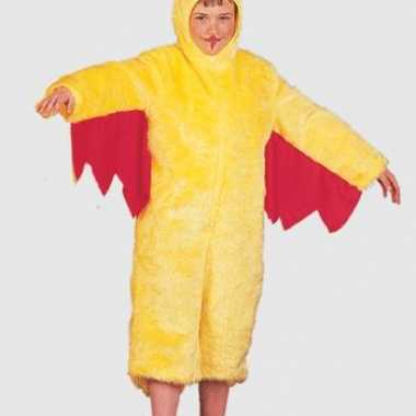 Geel kippenpak voor kinderen