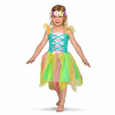 Gekleurd feeen verkleedkleding voor meisjes