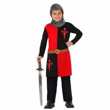 Goedkope ridder verkleedkleding rood voor jongens/meisjes
