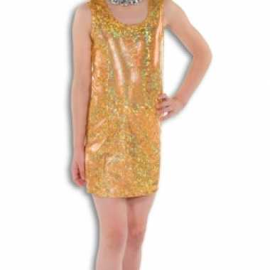 Gouden glitter verkleedkleding voor meisjes
