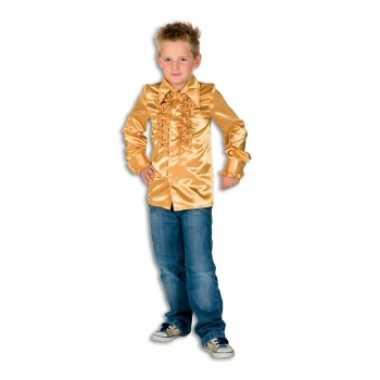 Gouden hippie verkleedkleding jongens