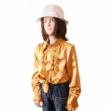 Gouden hippie verkleedkleding meisjes