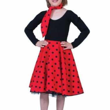 Grease rok met stippen voor kids