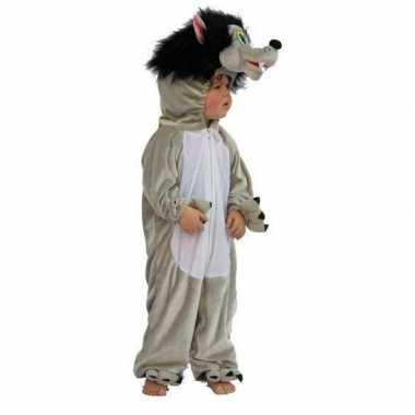 Grijze wolf verkleedkleding voor kinderen