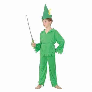 Groen bos jongen verkleedkleding voor kinderen