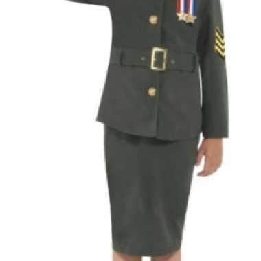 Groen soldaten uniform voor meisjes