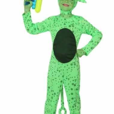 Groene alien verkleedkleding kind