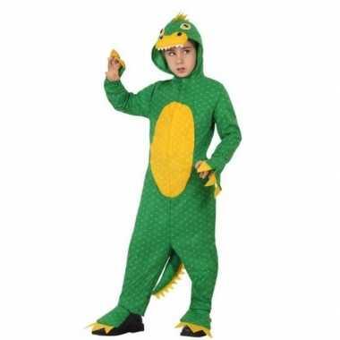 Groene dinosaurus rex verkleedkleding voor jongens