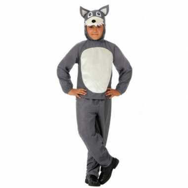 Grote boze wolf verkleedkleding voor kinderen