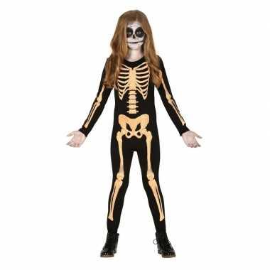 Halloween skelet verkleedkleding voor kinderen