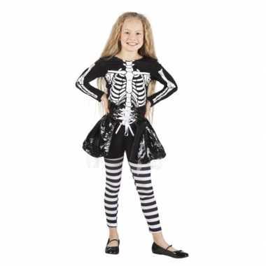 Halloween skelet verkleedkleding voor meisjes