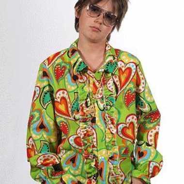 Hippie shirts hartjes kinderen