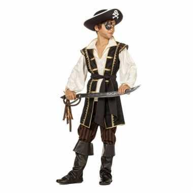Jack piraat verkleedkleding bruin voor jongens