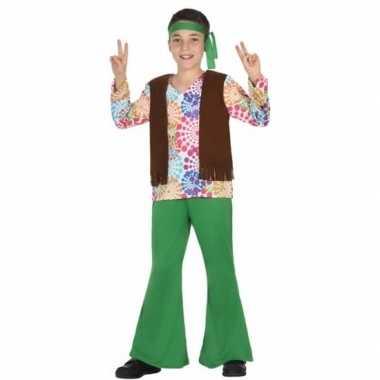 Jaren 60 hippie verkleedkleding voor jongens
