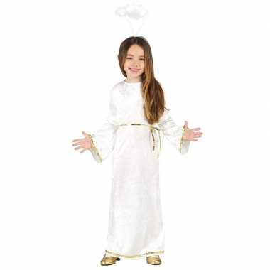 Kerst engelen verkleedkleding met aureool/halo voor meisjes