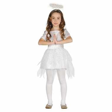 Kerstengelen verkleedkleding raziel met aureool/halo voor meisjes
