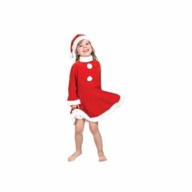 Kerstmeisje verkleedkleding met kerstmuts