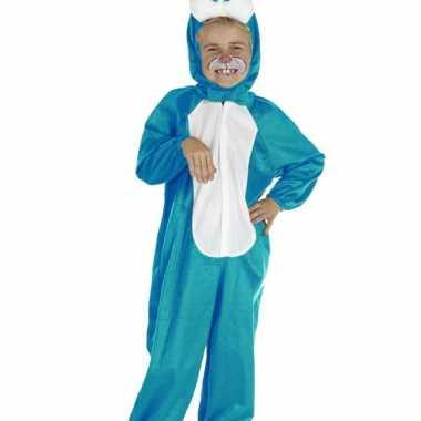 Kinder paashaas verkleedkleding blauw