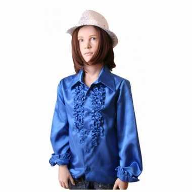 Kobaltblauwe hippie verkleedkleding voor meisjes
