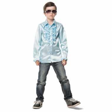 Lichtblauwe hippie verkleedkleding jongens