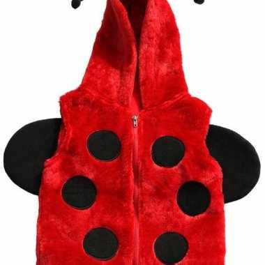 Lieveheersbeestje bodywarmer voor kinderen