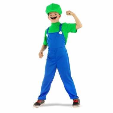Loodgieter luigi pak groen voor jongens