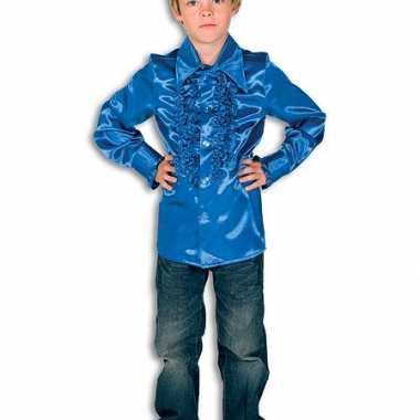 Luxe kobaltblauwe hippie verkleedkleding jongens