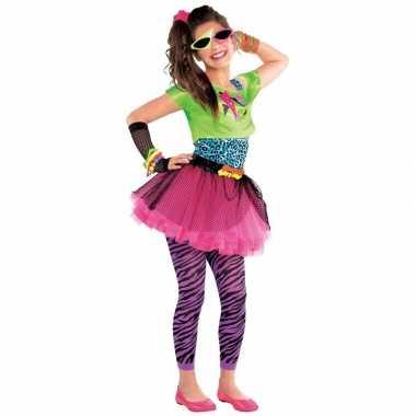 Madonna jaren 80 verkleedkleding feestkleding voor meisjes 10 12 jaar