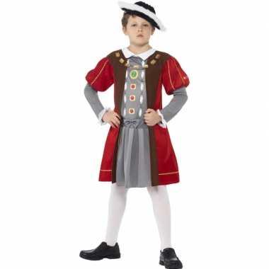 Middeleeuwse koning verkleedkleding voor jongens
