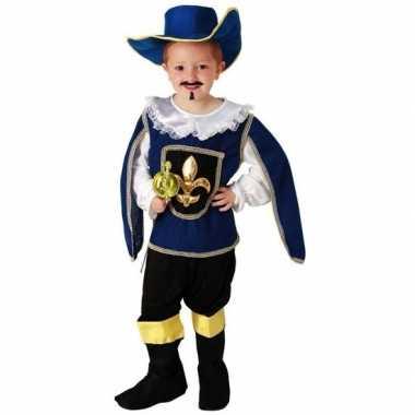 Musketier verkleedkleding met hoed voor jongens
